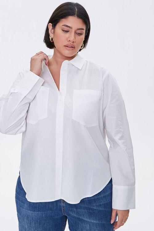 Plus Size Button-Up Shirt, image 1