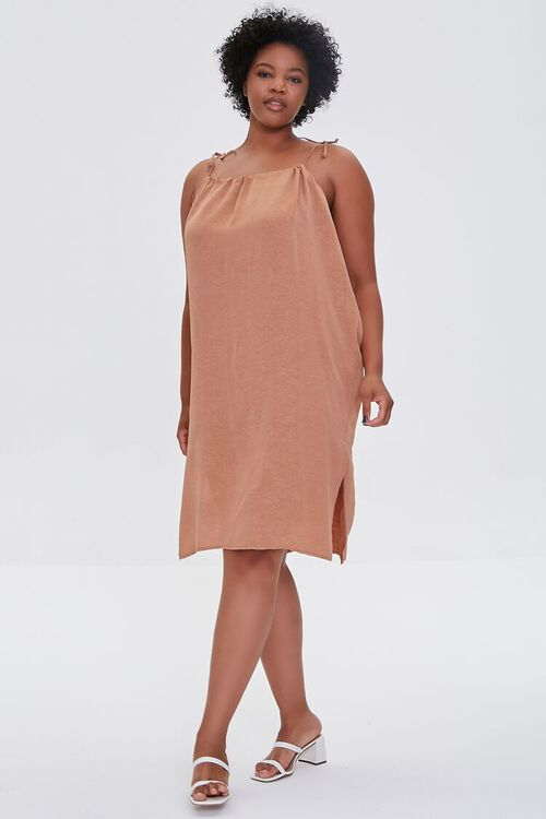 Plus Size Self-Tie Cami Shift Dress, image 4