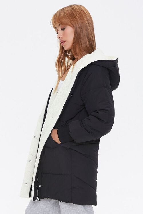 Faux Shearling-Lined Puffer Jacket, image 2
