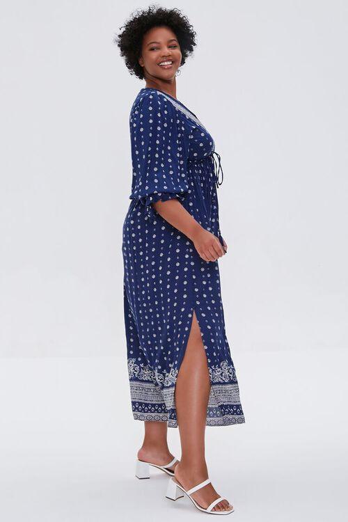 NAVY Plus Size Ornate Print Midi Dress, image 2