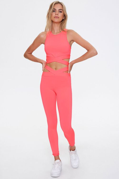 Active Crisscross Cutout Leggings, image 1