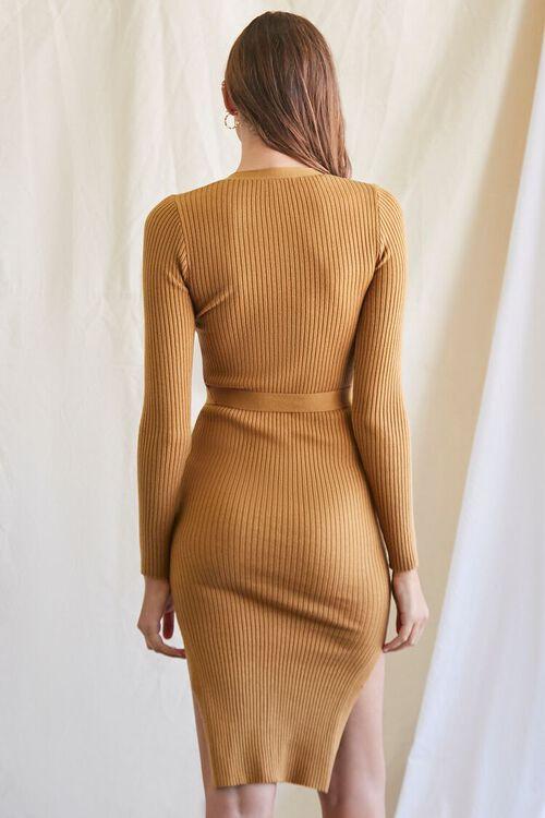 CAMEL Ribbed Sweater Dress, image 3