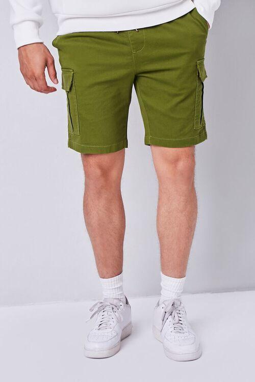 OLIVE Drawstring Cargo Shorts, image 2