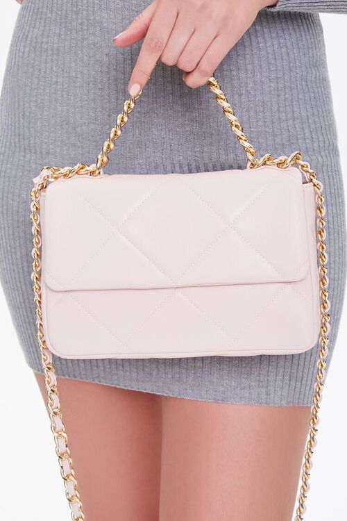 Quilted Faux Leather Crossbody Bag, image 2
