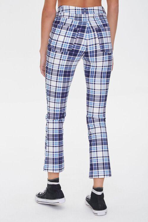 BLUE/MULTI Plaid Flare Ankle Pants, image 3