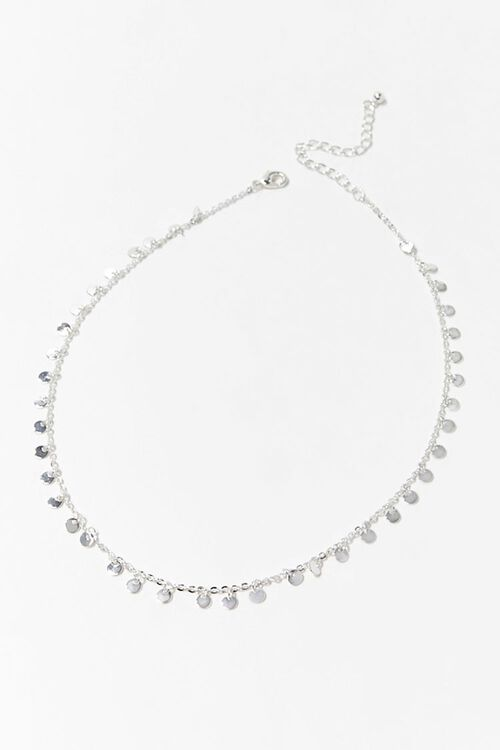 SILVER Disc Charm Necklace, image 3