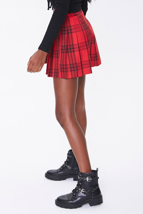 Pleated Plaid Mini Skirt, image 3