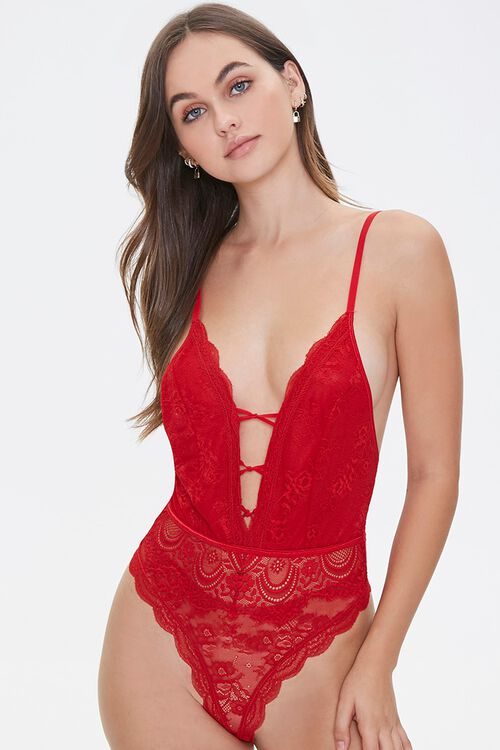 Scalloped Lace Teddy, image 1