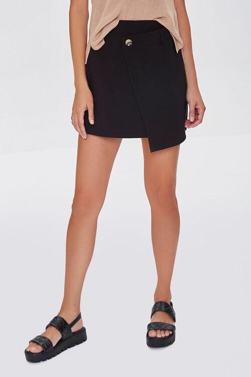 BLACK Overlay Mini Skirt, image 2