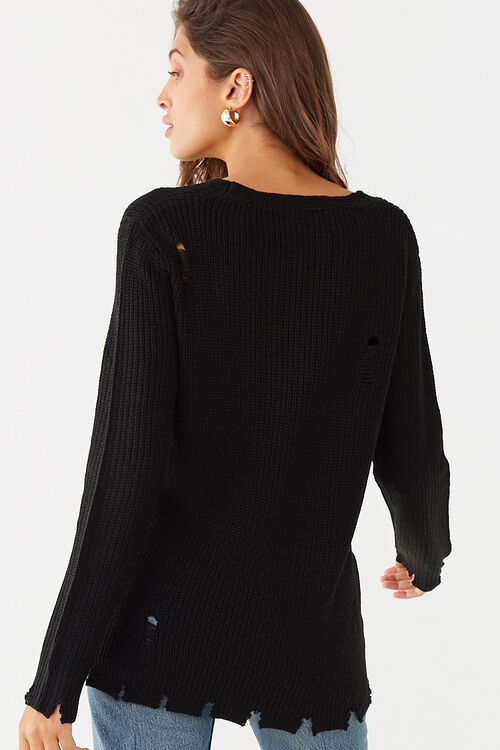 Distressed Ribbed Sweater, image 3