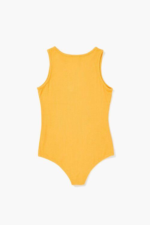 Girls Sleeveless Henley Bodysuit (Kids), image 2