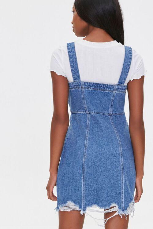 Distressed Denim Overall Dress, image 3