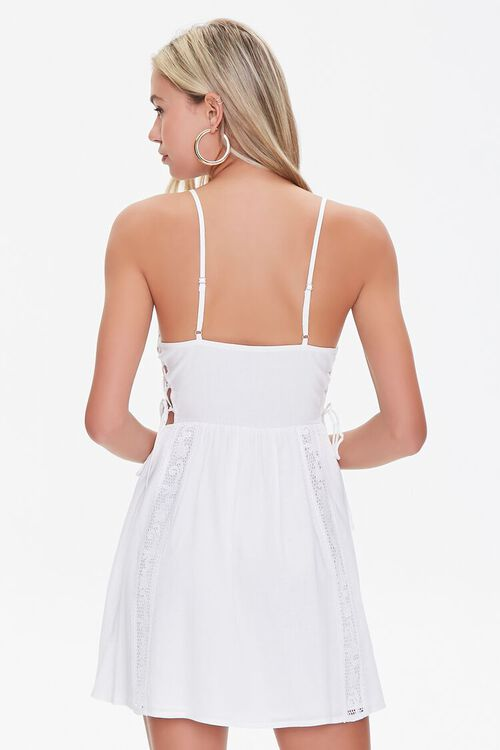 Lace-Panel Fit & Flare Dress, image 3