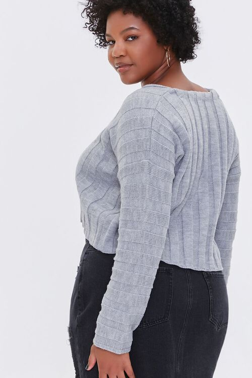 Plus Size Ribbed Drop-Sleeve Sweater, image 3