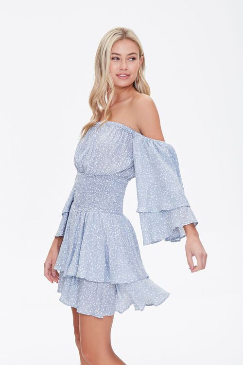 Spotted Off-the-Shoulder Dress, image 2