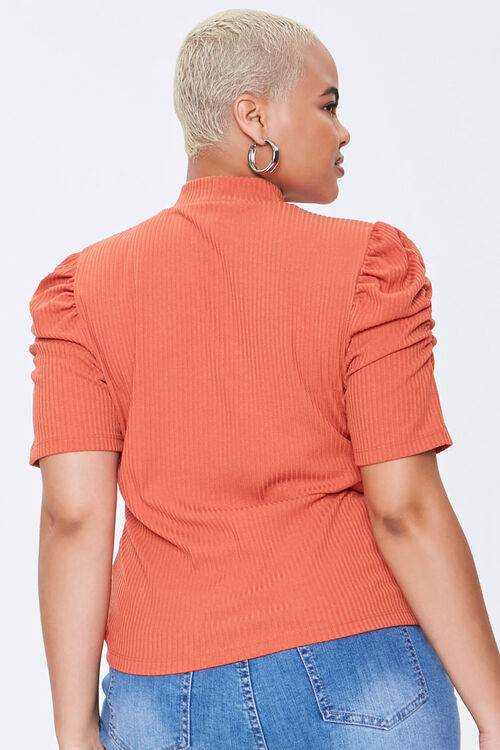 Plus Size Ribbed Puff-Sleeve Top, image 3