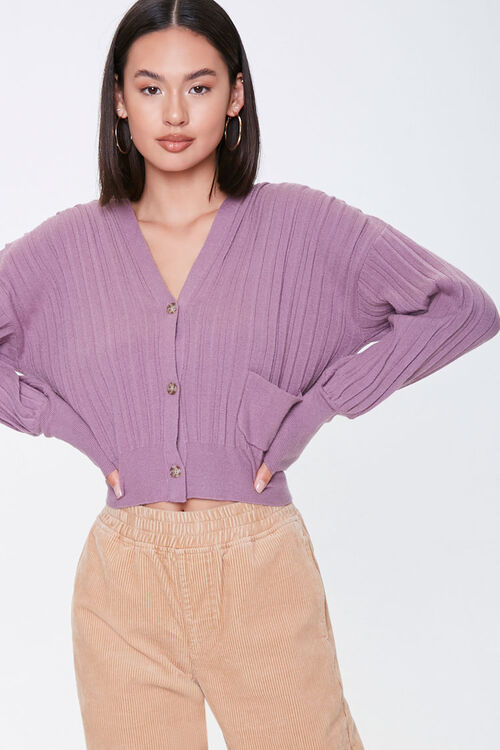 Ribbed Buttoned Cardigan, image 1