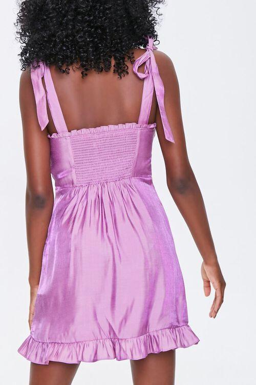 Sheeny Self-Tie Mini Dress, image 3