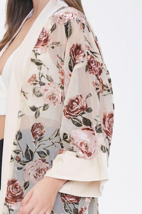 Velvet Rose Print Kimono, image 5