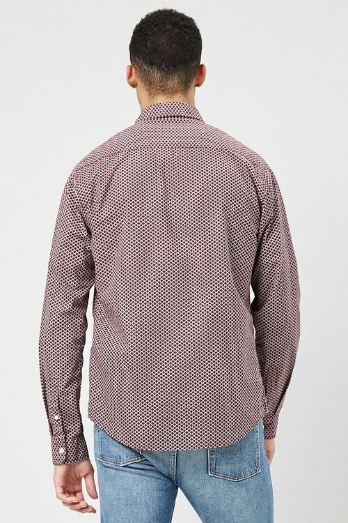 Fitted Geo Print Shirt, image 3