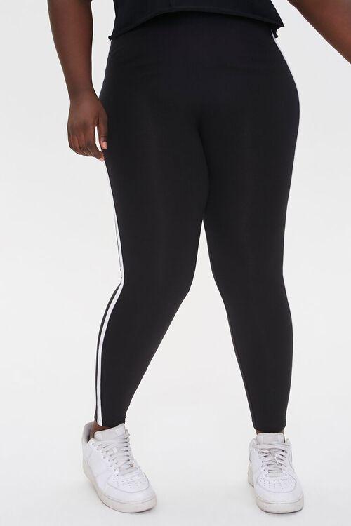 Plus Size Side-Striped Leggings, image 2