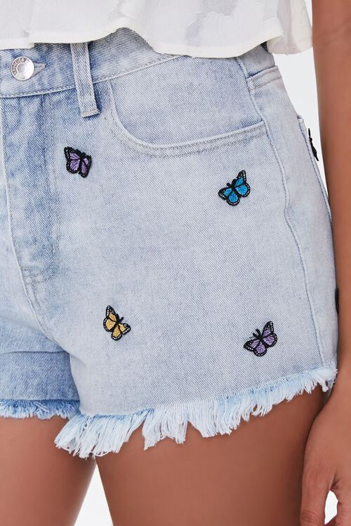 Butterfly High-Rise Denim Shorts, image 6