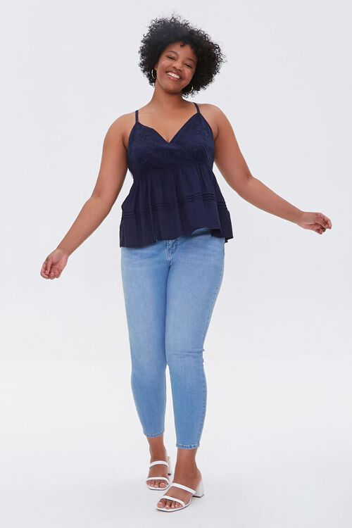 Plus Size Embroidered Cami, image 4