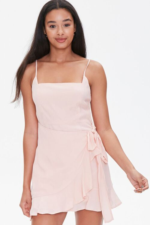 Ruffled Cami Wrap Dress, image 1