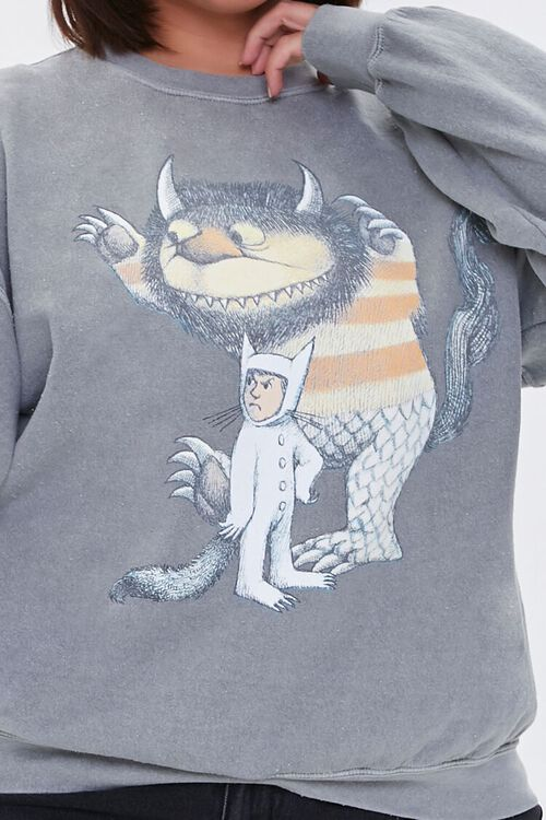 Plus Size Where the Wild Things Are Pullover, image 5