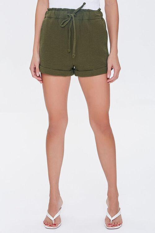 Paperbag Drawstring Shorts, image 2