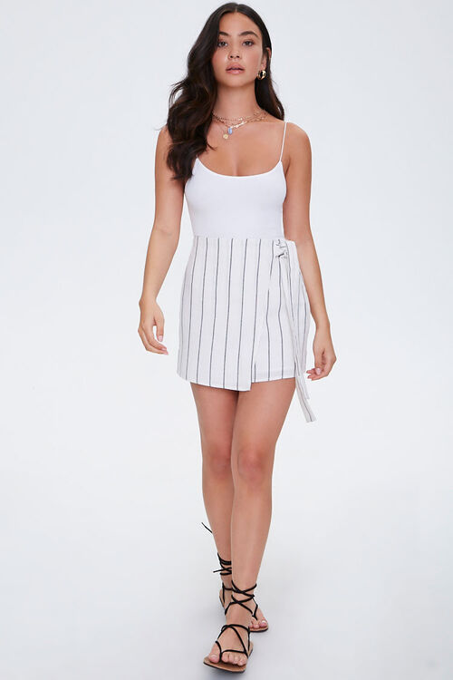 Striped Mock Wrap Skirt, image 5