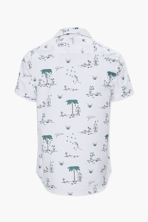 Skeleton & Money Print Shirt, image 2