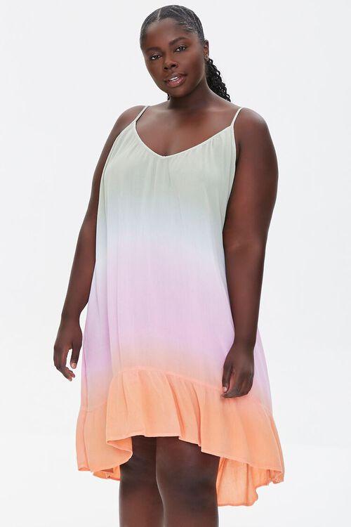 Plus Size Ombre Cami Mini Dress, image 1