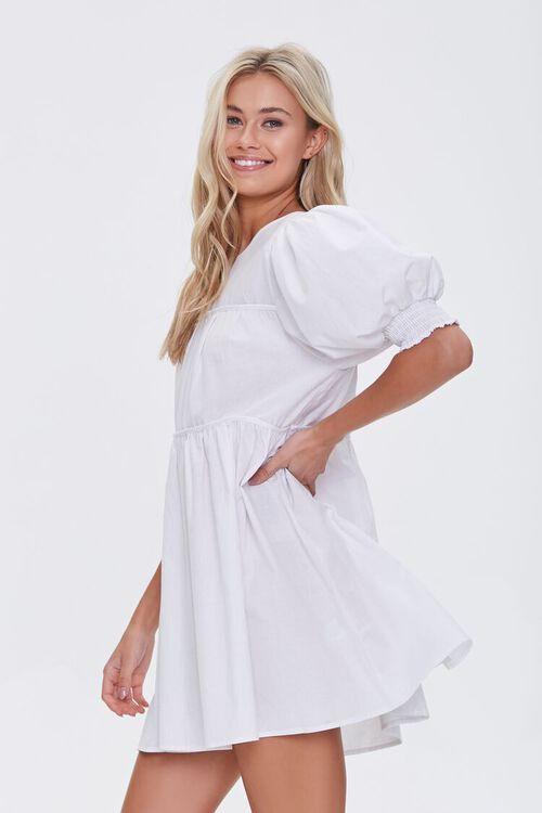 Puff-Sleeve Mini Dress, image 2