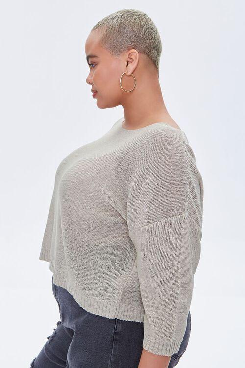 Plus Size Boat Neck Sweater, image 2