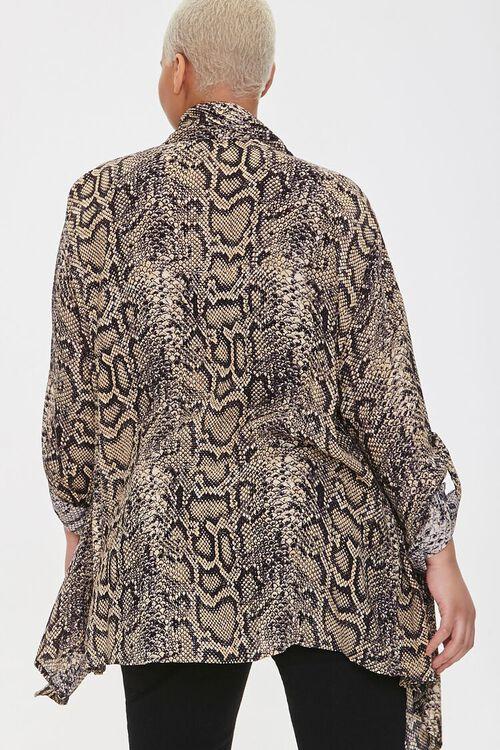 Plus Size Snakeskin Print Kimono, image 4