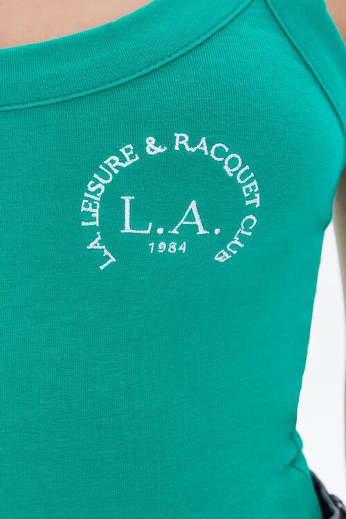 Embroidered Racquet Club Bodysuit, image 6
