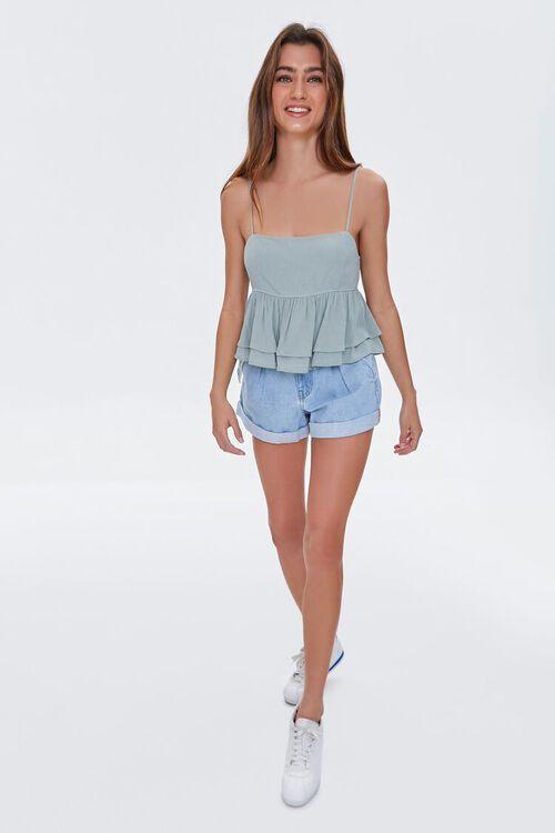 Denim Paperbag Shorts, image 5