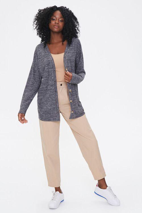 Heathered Knit Cardigan Sweater, image 4