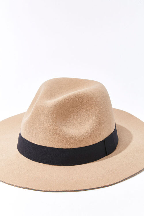Faux Suede Contrast-Trim Fedora, image 4
