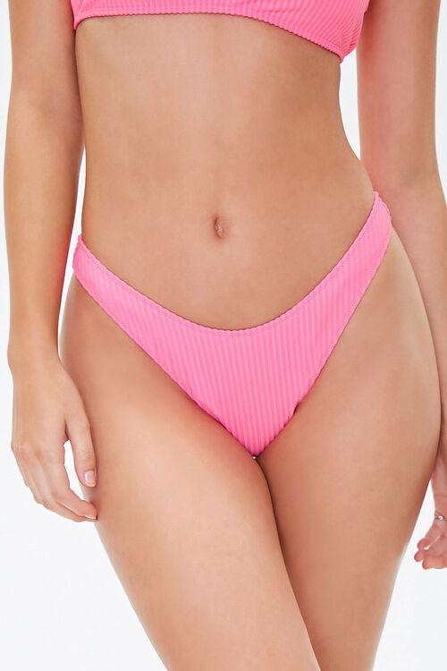 Ribbed Low-Rise Bikini Bottoms, image 2