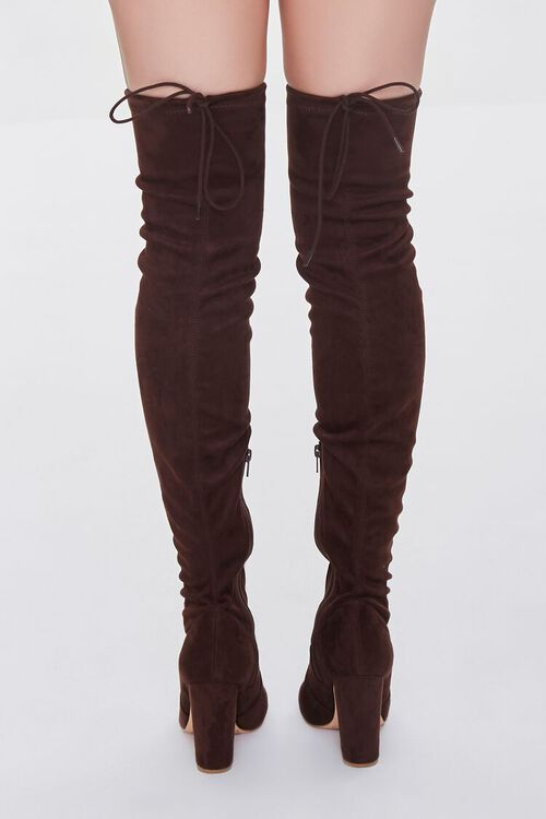 BROWN Faux Suede Over-the-Knee Boots, image 3