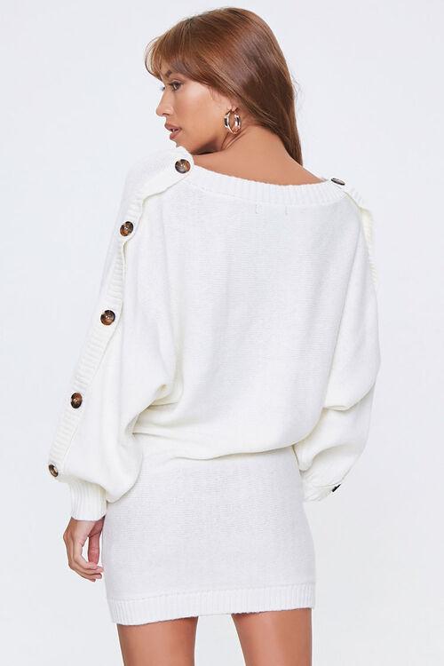 Button-Trim Sweater Dress, image 2