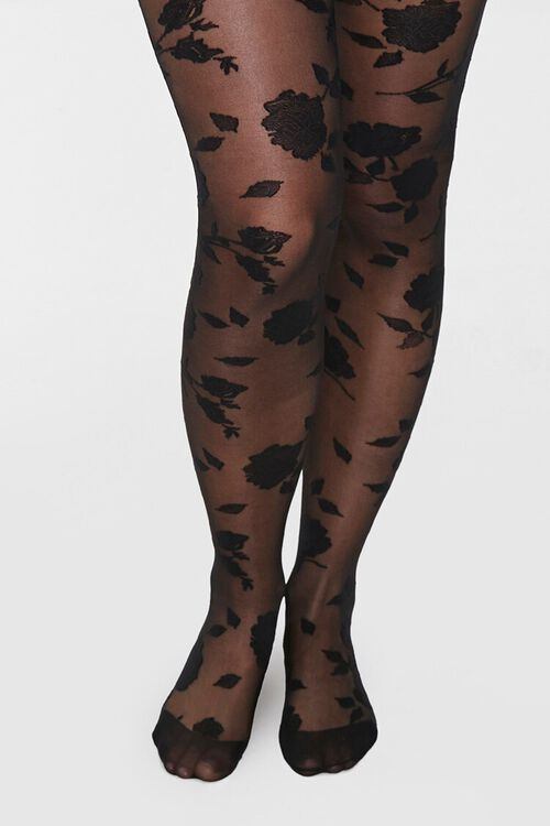 Sheer Rose Tights, image 4