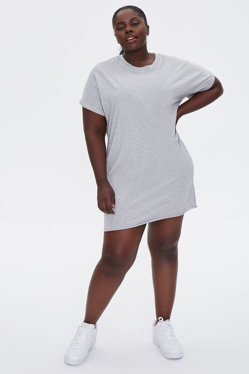 Plus Size Cuffed T-Shirt Dress, image 4