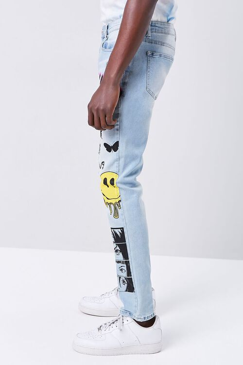Doodle Graphic Skinny Jeans, image 3