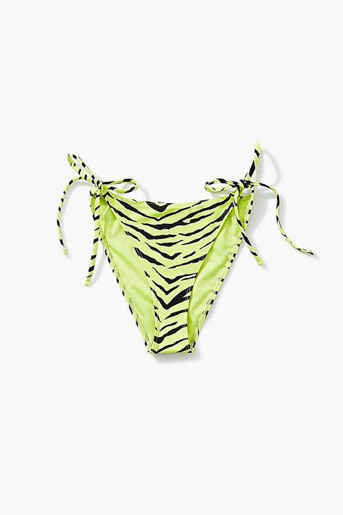 Zebra Striped String Bikini Bottoms, image 5