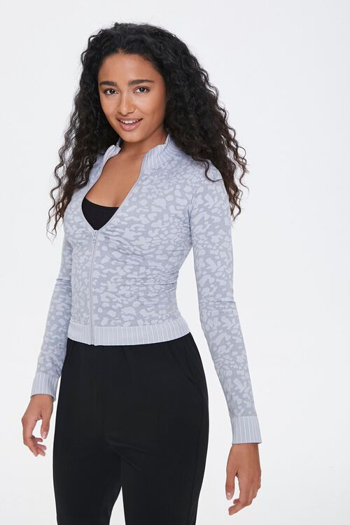 Active Seamless Animal Print Jacket, image 1