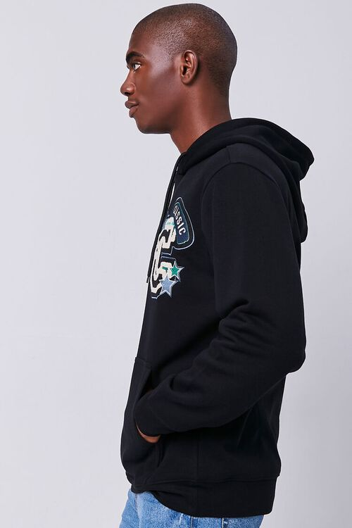 BLACK/MULTI Classic Chenille Patch Graphic Hoodie, image 2