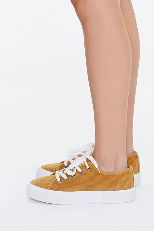 Lace-Up Corduroy Sneakers, image 2